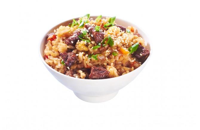 Рис жареный с говядиной