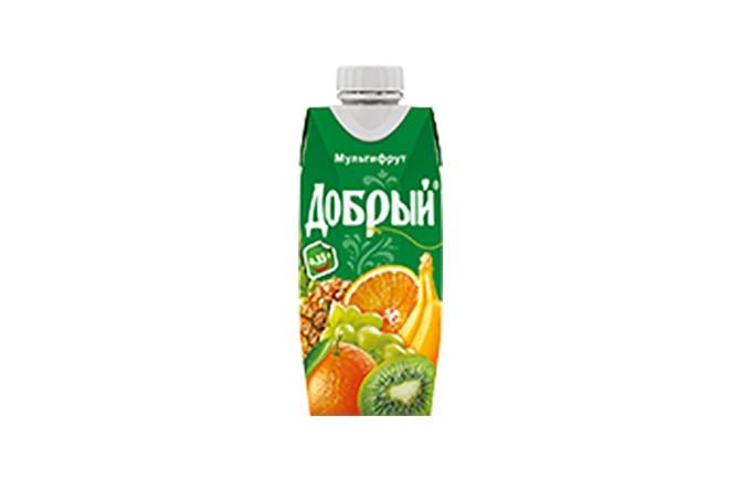 """Сок """"Добрый"""" Мультифрукт 0.33 л."""